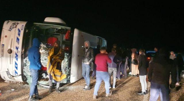 Kayseri'deki otobüs kazasında 14 kişi yaralandı