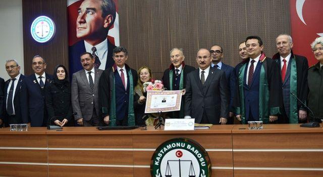 Kore ve Kıbrıs gazisi 97 yaşında avukatlık cübbesi giydi