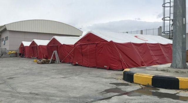 Koronavirüs tedbirleri: Çıldır-Aktaş ve Türkgözü sınır kapılarında da sahra hastaneleri kuruldu