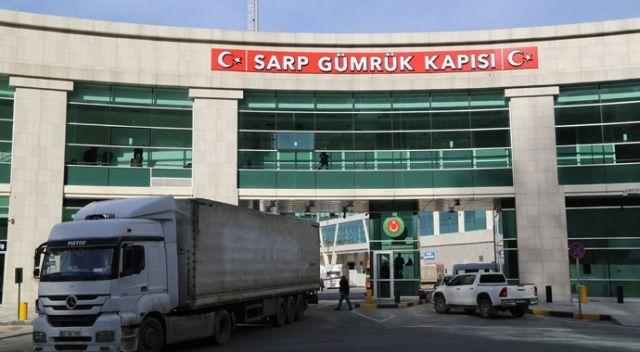 Sarp Sınır Kapısı'nda koronavirüs nedeniyle tedbirler arttırıldı