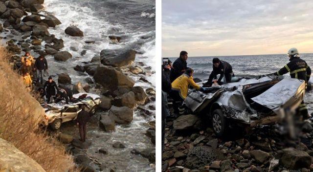 Tekirdağ'da otomobil denize uçtu: 1 ölü