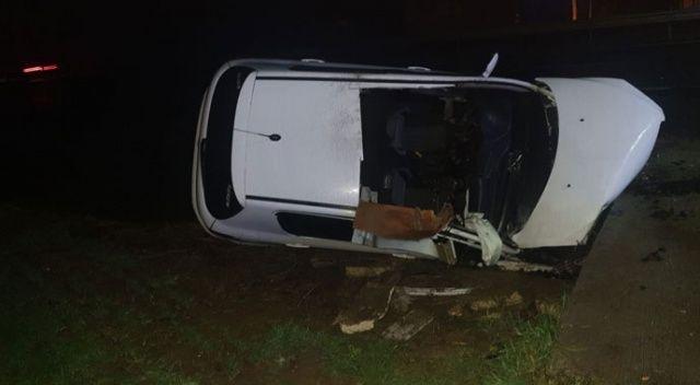 Tekirdağ'da otomobil su kanalına uçtu: 2 ölü