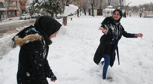 Tokat'ta 2 ilçede kar tatili