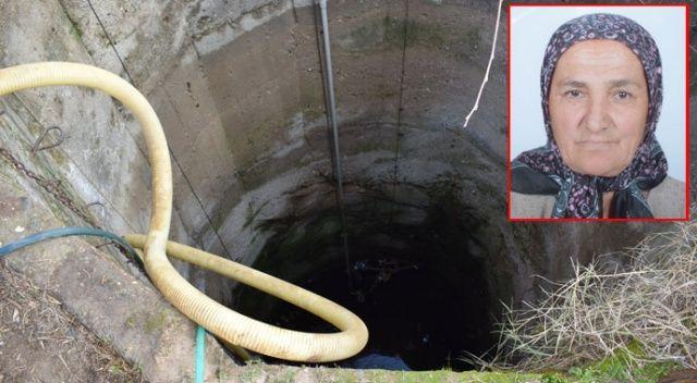 Yaşlı kadın 15 metrelik kuyuda ölü bulundu