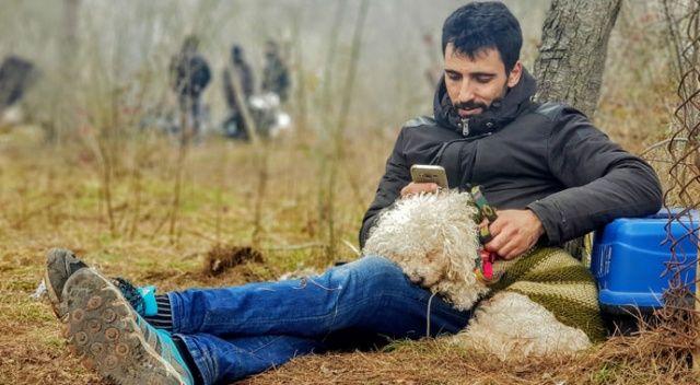 Yunanistan'daki eşine ulaşmak isteyen Filistinli Ahmet, köpeğiyle sınıra geldi