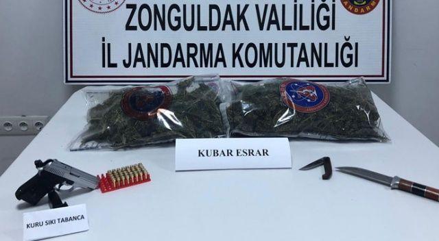 Zonguldak'ta 1 kilogram esrar ele geçirildi