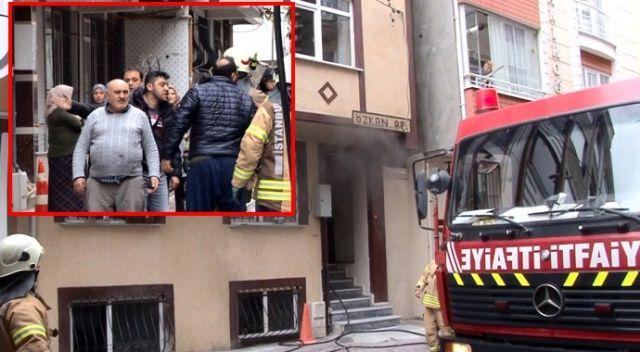 Baca yüzünden yangın çıktı, apartman sakinleri kavga etti