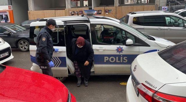 Bankadan para çekmek isteyen 77 yaşındaki kadının yardımına polisler koştu