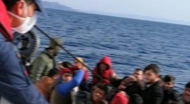 Datça açıklarında yardım isteyen 31 sığınmacı kurtarıldı