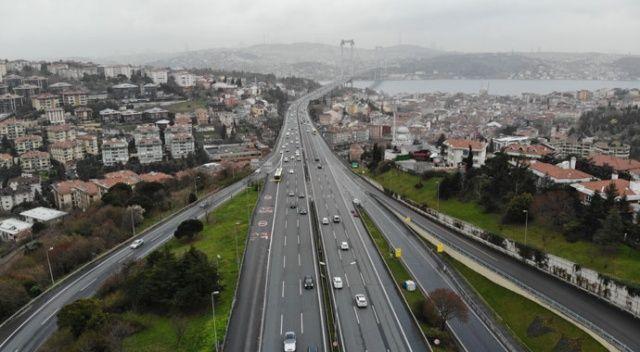 İstanbul'da trafiğin en yoğun olduğu cuma günü yollar boş kaldı
