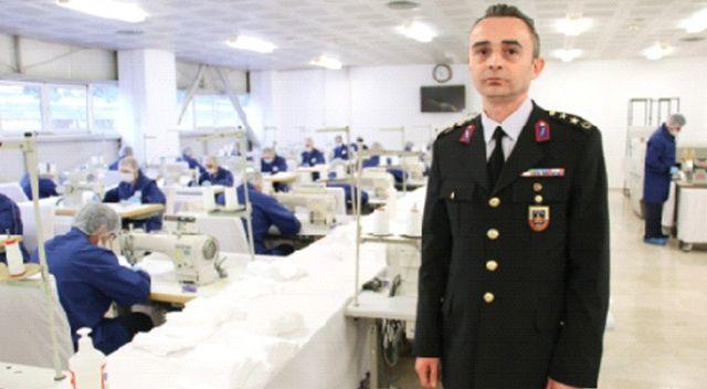 Jandarma devrede, 100 bin maske üretiyorlar