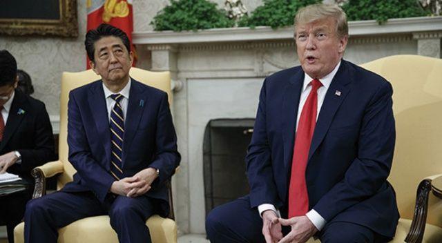 Japonya Başbakanı Abe ve ABD Başkanı Trump'tan telekonferans görüşmesi