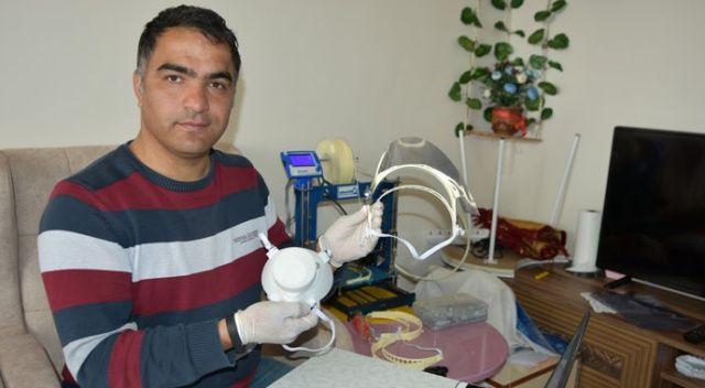 Sağlık çalışanları için 3D yazıcıyla yüz koruyucu siper üretti