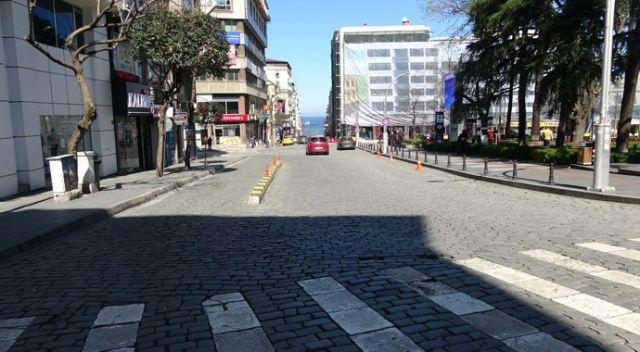 Trabzonlular koronavirüs önlemlerini dikkate aldı, sokağa çıkmadı