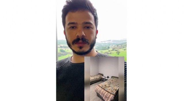 Yurtta kalan öğrenci karantina sürecini çektiği videoyla anlattı