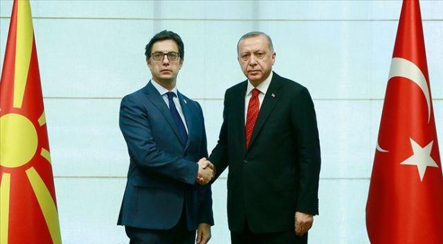 Cumhurbaşkanı Erdoğan, Kuzey Makedonya Cumhurbaşkanı  ile telefonda görüştü