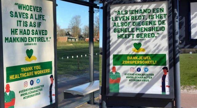 Hollanda'da sağlık çalışanlarına Kur'an-ı Kerim'den ayetle teşekkür