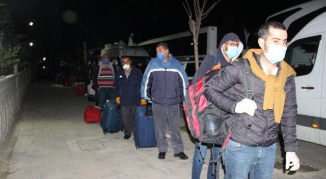 Irak'tan Türkiye'ye getirilen 547 işçi karantinaya alındı