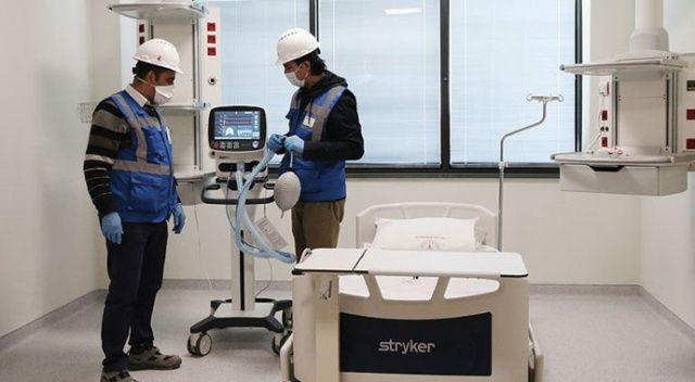 Koronavirüsle mücadelede kullanılacak solunum cihazlarının ilk partisi ulaştı