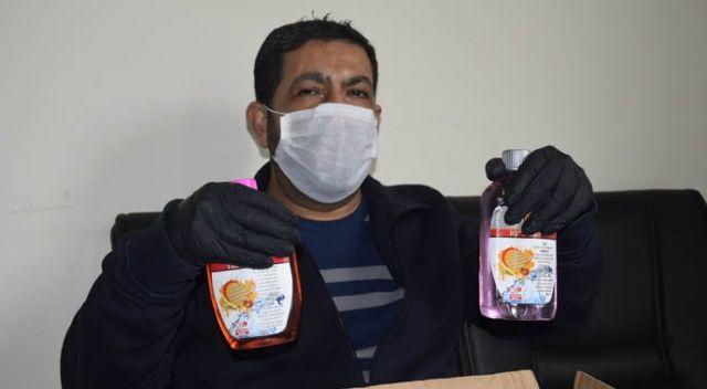 Maske ve eldiven sipariş etti sıvı sabun çıktı