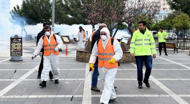 Maske ve eldivenler için özel atık kutuları yerleştirildi