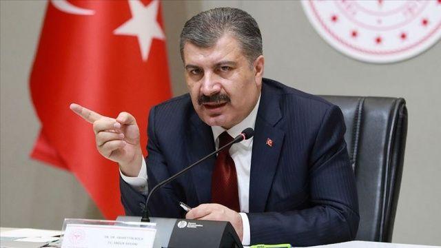 SAĞLIK BAKANI KOCA 63 KİŞİ DAHA COVİD-19...