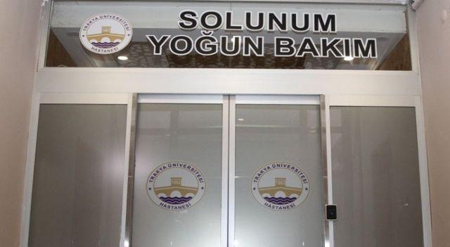 Trakya Üniversitesi Hastanesi solunum yoğun bakım ünitesi hasta kabulüne başladı
