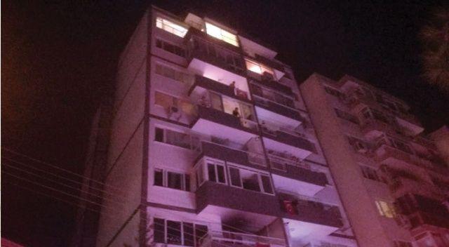 9 katlı binada korkutan yangın