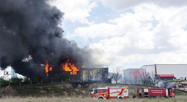 Ankara'da tiner dolum tesisinde yangın: 2 ölü