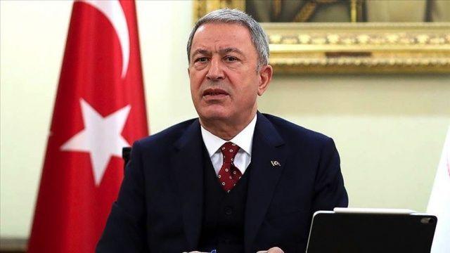Bakan Akar: Şu ana kadar teröristlerin Irak'ın kuzeyindeki inlerini başlarına yıktık, yıkmaya devam ediyoruz