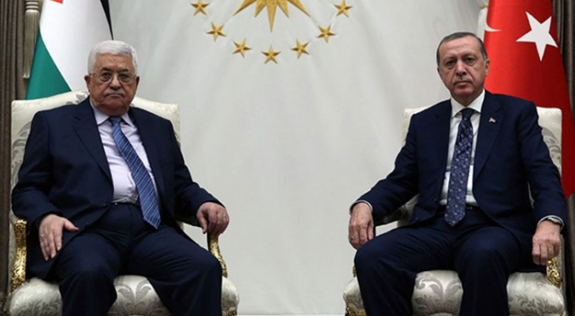 Cumhurbaşkanı Erdoğan, Filistin Devlet Başkanı Abbas ile telefonda görüştü