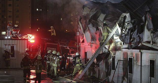 İstanbul Finans Merkezi şantiyesinde yangın çıktı, yaralılar var