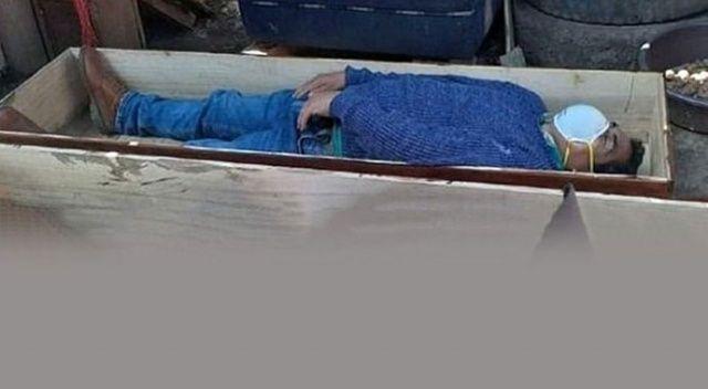 Karantinayı delen Perulu belediye başkanı, yakalanınca tabuta girip ölü taklidi yaptı