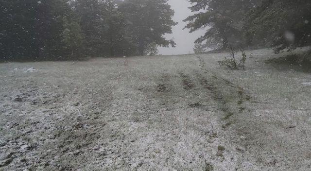 Kastamonu'da Mayıs sonlarında kar sürprizi