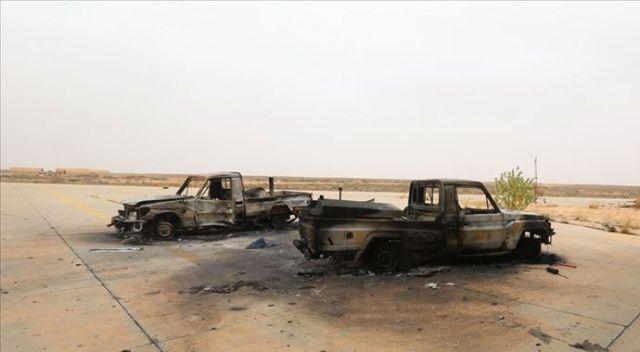 Libya ordusu Hafter milislerinin 10 silahlı aracını imha etti