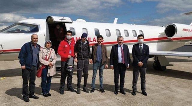 Lösemi hastası Türk vatandaşı tedavi için Hollanda'dan Türkiye'ye getirildi