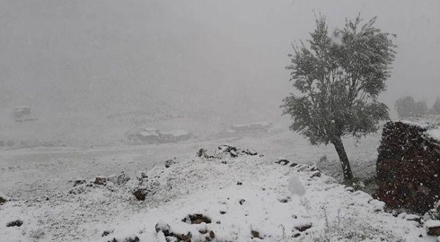 Malatya'da Mayıs ayında kar sürprizi