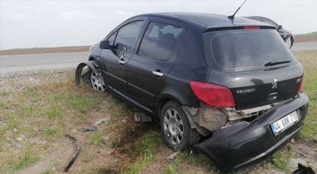 Otomobil şarampole devrildi, sürücünün burnu dahi kanamadı
