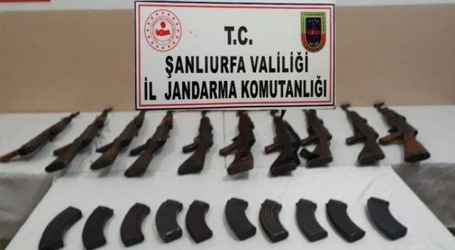 Şanlıurfa'da jandarmanın düzenlediği operasyonda 10 adet uzun namlulu silah ele geçirildi