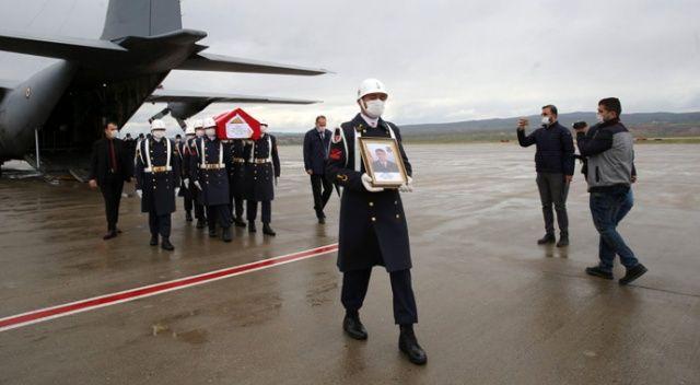 Şehit uzman çavuşun cenazesi Kapadokya Havalimanına getirildi