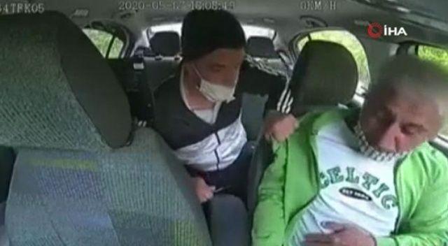 Taksi içerisinde dehşet veren dakikalar! Bıçak zoruyla gasp etti
