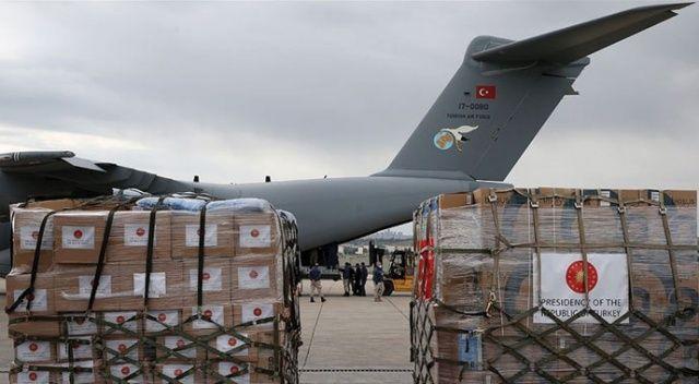 Türkiye'nin yardım eli dünyaya uzanmaya devam ediyor! Tıbbi yardım malzemesi taşıyan Türk uçağı Çad'a indi