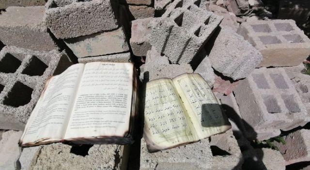 Van'da konteyner ev yandı, Kur'an-ı Kerim yanmadı