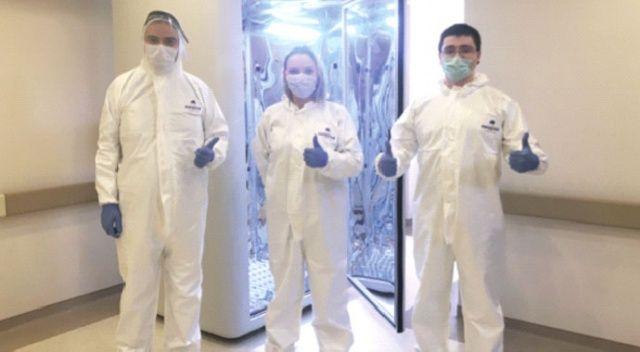 Virüsü 30 saniyede öldüren kabin