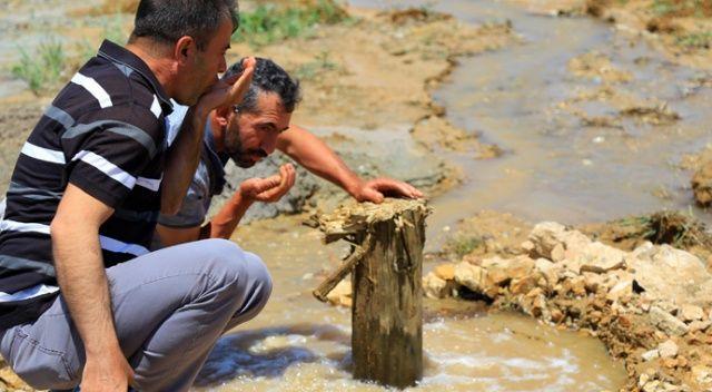 Bahçeye sondaj vurdurdu, doğal maden suyu çıktı
