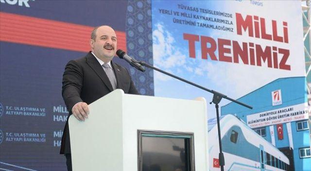 Bakan Varank: Milli elektrikli trenimizde bugün itibarıyla fabrika testlerine başlanıyor