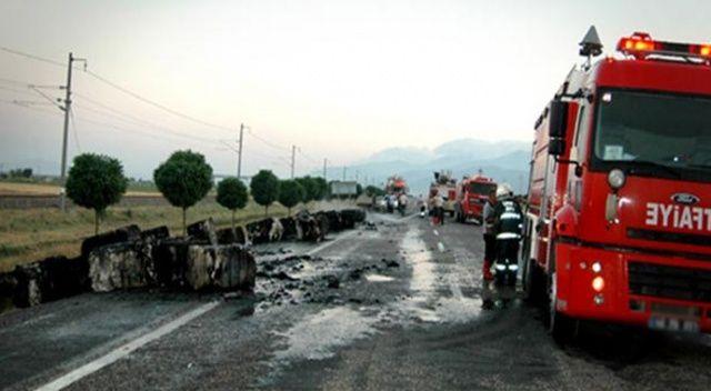 Çekmeköy'de hafriyat kamyonu yangını!