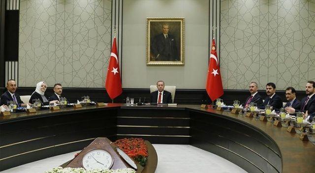 Cumhurbaşkanlığı Kabinesi, Beştepe'de toplandı