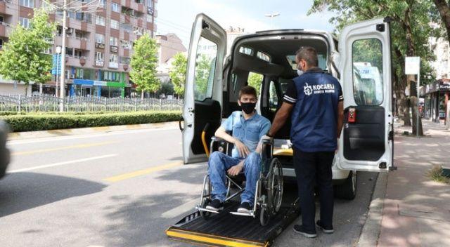 Engelli bireyin sınav yolculuğu sorunu engelsiz taksi ile çözüldü