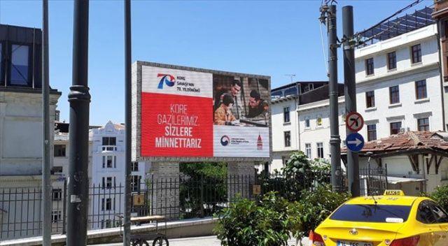 Kore'nin İstanbul Başkonsolosluğundan Kore gazilerine 'teşekkür' afişi